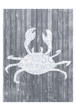 Crab Wood Panel Print by Lauren Gibbons