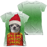 Juniors: Pets Rock- Christmas King Of Pop (Front/Back) T-shirts