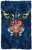Bon Jovi - Weathered Denim Fleece Blanket Fleece Blanket