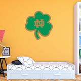 NCAA Notre Dame Fighting Irish 2015 Green Shamrock Logo Wall Decal