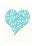 Love, Sugar, Milk Eggs Affischer av  Z Studio