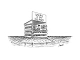 "A man stands in a shop on a desert island with a sign that reads ""Maps of ... - New Yorker Cartoon Premium Giclee Print by Tom Cheney"