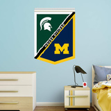 NCAA Michigan State Spartans-Michigan Wolverines 2015 House Divided Banner RealBig Wall Decal