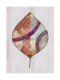 Wood Inlay Leaf 2 Premium Giclee Print by Filippo Ioco