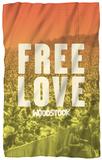 Woodstock - Free Love Fleece Blanket Fleece Blanket