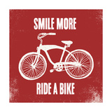 Smile More Ride a Bike Posters by Evangeline Taylor