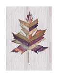 Wood Inlay Leaf 3 Print by Filippo Ioco