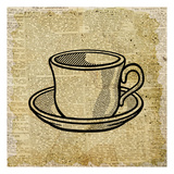 Coffee On Print 1 Posters by Kimberly Allen