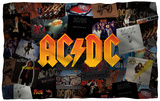 AC/DC - Album Collage Fleece Blanket Fleece Blanket