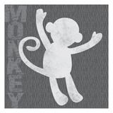 Monkey Poster by Lauren Gibbons