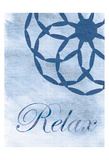 Relax Blue Spa 2 Prints by Lauren Gibbons