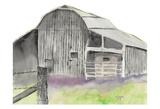The Gray Barn Poster by Beverly Dyer