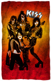 KISS - Fire Pose Fleece Blanket Fleece Blanket
