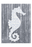 Seahorse Wood Panel Posters by Lauren Gibbons
