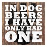 Dog Beers Print by Lauren Gibbons
