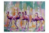 Flamingo Rondevu 1 Prints by Lena Navarro