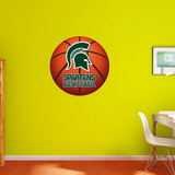 NCAA Michigan State Spartans 2015 RealBig Basketball Logo Wallstickers