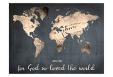 For God So Loved The World Poster by Sheldon Lewis