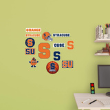 NCAA Syracuse Orange 2015 Logo Assortment Fathead Jr. Wall Decal