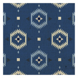 Indigo Squares Droplets Prints by Melody Hogan