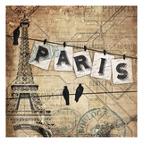 Paris On The Line Prints by Jace Grey