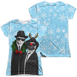 Juniors: Pets Rock- Brothers Blue Christmas (Front/Back) Shirts