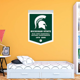 NCAA Michigan State Spartans 2015 Basketball Championships Banner RealBig Wall Decal