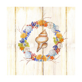 Coastal Wreath and Shell 2 Posters by Mary Escobedo