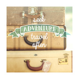 Travel Often Vintage Suitcases Prints by Mandy Lynne