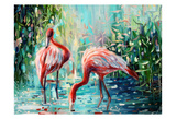 Flamingo's Delight 1 Poster by Lena Navarro