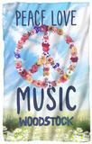 Woodstock - Open Love Fleece Blanket Fleece Blanket