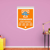 NCAA Tennessee Volunteers 2015 Lady Vols Basketball Championships Banner RealBig Wall Decal