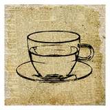 Coffee On Print 2 Posters by Kimberly Allen