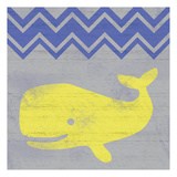 Striped Whale Posters by Lauren Gibbons