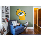 NFL Green Bay Packers 2016 State of Wisconsin RealBig Logo Wall Decal