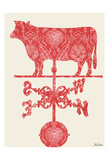 Weather Vane Cow Posters by Tina Carlson