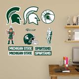 NCAA Michigan State Spartans 2015 Logo Assortment Fathead Jr. Wall Decal