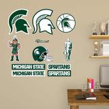 NCAA Michigan State Spartans 2015 Logo Assortment Fathead Jr. Wall Decal