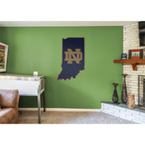 NCAA Notre Dame Fighting Irish 2016 State of Indiana RealBig Logo Wall Decal