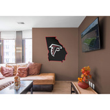 NFL Atlanta Falcons 2016 State of Georgia RealBig Logo Wall Decal