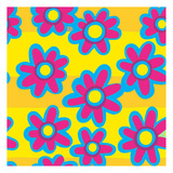 Groovy Love Pattern 3 Posters by Kimberly Allen