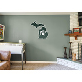 NCAA Michigan State Spartans 2016 State of Michigan RealBig Logo Wall Decal