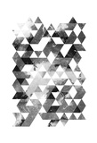 Black And White Triangles Mate Posters by OnRei OnRei