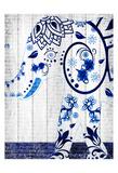 Indigo Elephant 2 Art by Kimberly Allen