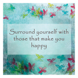 Surrounding Happiness Posters by Kimberly Allen