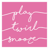 Play Twirl Snooze PINK Art by Gigi Louise