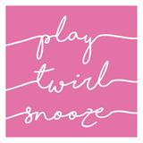 Play Twirl Snooze PINK Arte por Gigi Louise