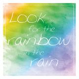 Rainbow In Rain Posters by Lauren Gibbons