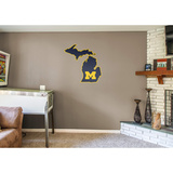 NCAA Michigan Wolverines 2016 State of Michigan RealBig Logo Wall Decal