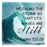 He Calm The Storm Posters by Sheldon Lewis